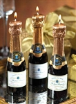 Zodax Mini Champagne Bottle Candle (Set of 3)