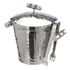 VIVO Genuine Shagreen Stainless Ice Bucket with Lid