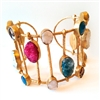 Paz Collective Spectacular Cuff with Druzy