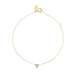 Adina Reyter Super Tiny Solid Pave Triangle Bracelet