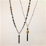 Alyce Ross Designs Hematite & Buddha Necklace