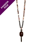 EXCLUSIVE - Alyce Ross Designs Hematite & Drum Necklace