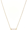 Luv Aj Pave Barbell Charm Necklace