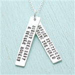 Chocolate and Steel Anne Frank Quote Necklace