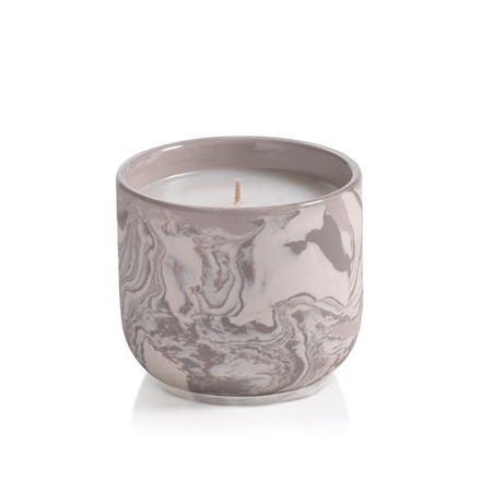 Zodax Apothecary Guild Marbleized Candle Jar - Small
