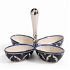 Zodax Mazagan Hand Painted Condiment Set