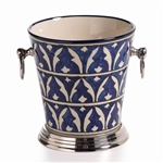 Zodax Mazagan Hand Painted Ice Bucket