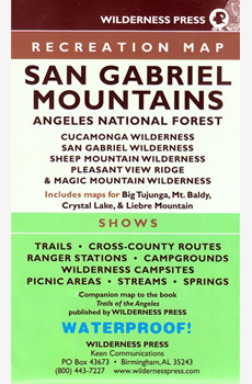 San Gabriel Mountains Recreation Map