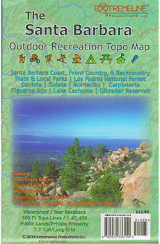 The Santa Barbara Outdoor Recreation Topo Map