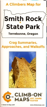 A Climbers Map for Smith Rock State Park. Terrebonne, Oregon