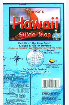 Franko's Hawaii Guide Map - The Big Island