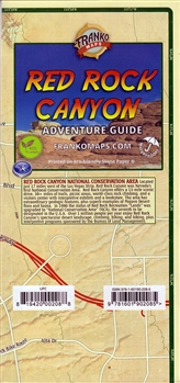 Map of Red Rock Canyon, NV