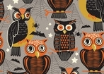 Spooktacular Owls on Gray