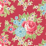 7774-R Red Multi Floral