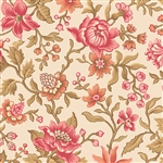 Jacobean Floral on Cream