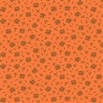 8262-O Pumpkin Spice Orange Crosshatch
