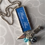 Wine Flies Charm Necklace