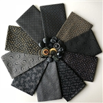 Harvest Moon Black Fat Quarters