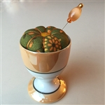 Antique Egg Cup Pincushion