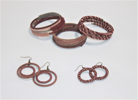 Spiral Bracelets & Earrings -Brandy Snaps