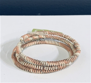 <!001>Spiral Bracelet Chunky  - Antique rose
