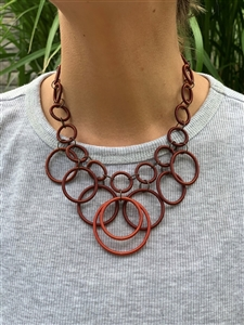 Ring Necklace - Short Copper