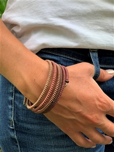 <!001>Spiral Bracelet Striped - Brandy Snaps