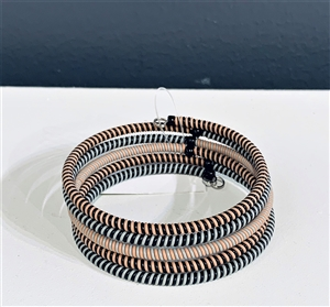 <!003>Spiral Bracelets -Rose Copper Striped