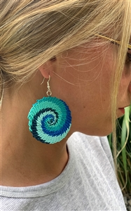 <!140>Telephone Wire Earring - African Ocean