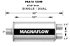 "Magnaflow 5x8 Singe 3"" In/Dual 2.5"" Out 24"" Stainless Muffler"