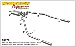 "Magnaflow Catback Exhaust 2009-2016 Dodge Ram 1500 Dual Rear Exit catback exhaust system with 22"" muffler and dual 3.5"" stainless steel Tips"