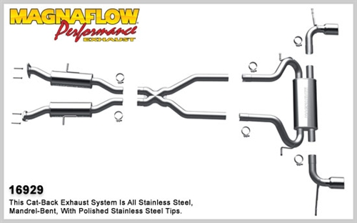Magnaflow Dual Catback Exhaust System 2011 2014 Jeep Grand
