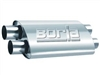 "Borla 4x9.5 Dual 2.5"" In/Dual 2.5"" Out 19"" Stainless Muffler"
