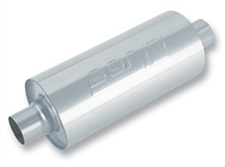 "Borla 6.75"" Round Single 3"" In/Single 3"" Out 24"" Stainless Muffler"