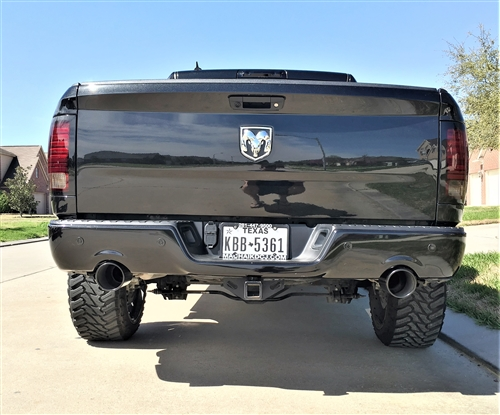 Ram 1500 Exhaust >> Moe S Performance 5 Black Coated Stainless Steel Rolled Edge
