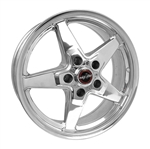 Racestar 92 Drag Star Polished 17x7 Front Wheels 5x5.5