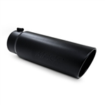"MBRP 5"" Black Rolled End Exhaust Tip - 18"" Long w/ 4"" Inlet"
