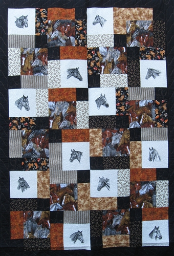 Layer Cake Scramble Horse Quilt Kit