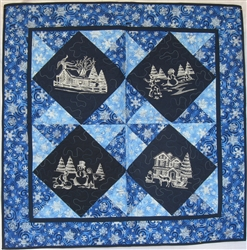 Winter Wonderland - Winter Toile - Small Wall Hanging Kit