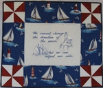 Pin Wheel - Nautical - Small Wall Hanging Kit
