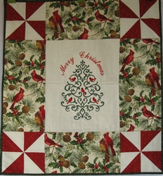 Pin Wheel - Christmas Tree - Small Wall Hanging Kit