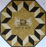 Center Stage - Love to Quilt with Sewing Machine - Small Wall Hanging Kit