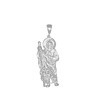 DCP1013 Silver Regular DC San Judas Pendant 60mm