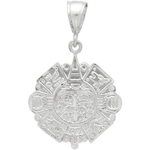 Dcp1045 silver dc aztec calendar pendant 31mm aloadofball Image collections