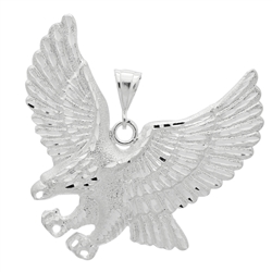 DCP1076 Silver DC Eagle Pendant 68mm