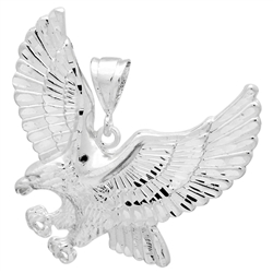 DCP1077 Silver DC Eagle Pendant 60mm