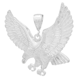 DCP1078 Silver DC Eagle Pendant 47mm