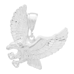 DCP1079 Silver DC Eagle Pendant 38mm