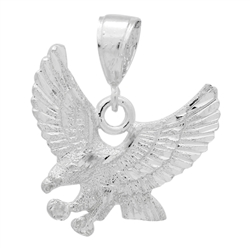 DCP1080 Silver DC Eagle Pendant 30mm