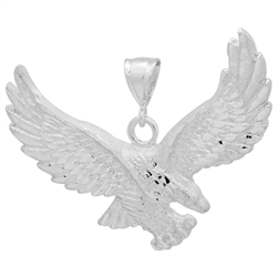 DCP1081 Silver DC Eagle Pendant 70mm